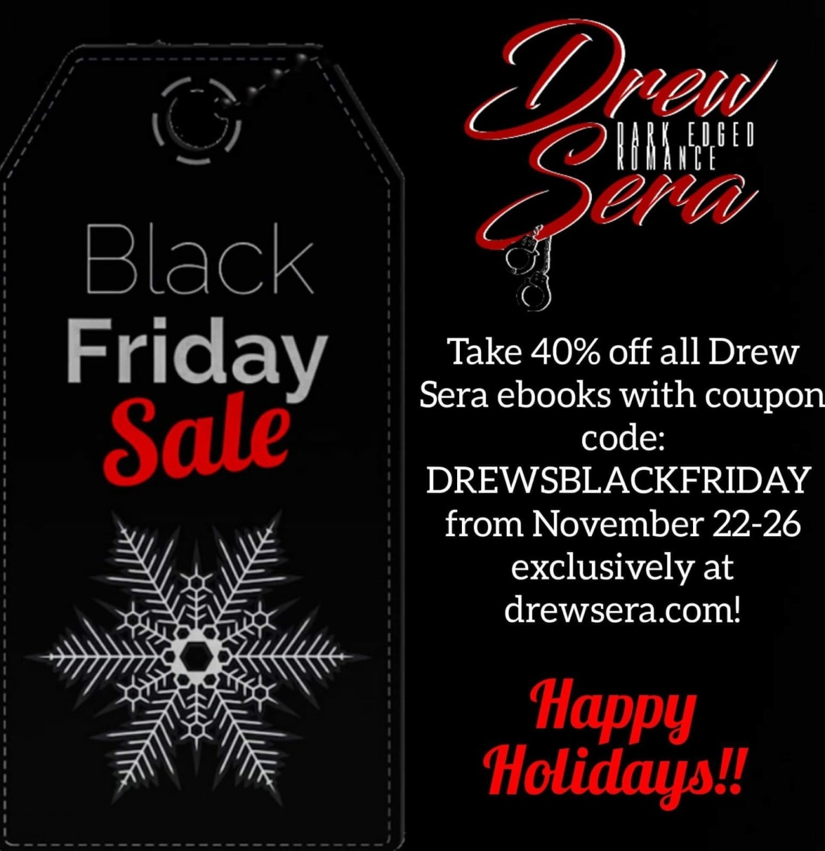 Save 40% on Drew Sera's Book Nov 22-26